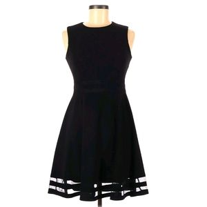 Calvin Klein Fit and Flare LBD Mesh Stripe 6 P